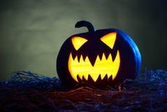 tła czarny jaskrawy oczu Halloween inside światła usta nosa bani kolor żółty Obraz Royalty Free