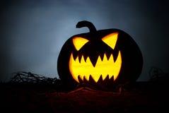 tła czarny jaskrawy oczu Halloween inside światła usta nosa bani kolor żółty Fotografia Royalty Free