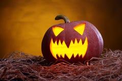 tła czarny jaskrawy oczu Halloween inside światła usta nosa bani kolor żółty Zdjęcie Stock