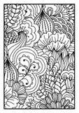 tła czarny karcianego projekta kwiatu fractal dobrego ogange plakatowy biel Zdjęcie Stock