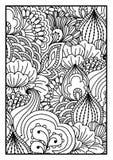 tła czarny karcianego projekta kwiatu fractal dobrego ogange plakatowy biel Zdjęcia Stock
