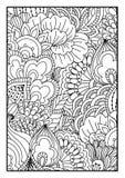 tła czarny karcianego projekta kwiatu fractal dobrego ogange plakatowy biel Obrazy Royalty Free