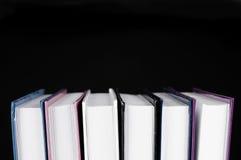 tła czarny książki odizolowywająca strona Obrazy Royalty Free