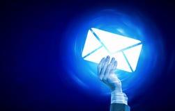 tła czarny pojęcia czarny emaila odbicia tekst trzy Obraz Royalty Free