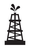 tła czarny wieży wiertniczej nakreślenia biel