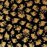 tła czarny złota róży wektoru tapeta Obraz Stock