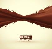 tła czekoladowy ilustracyjny pluśnięcia biel Zdjęcie Stock