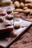 tła czekolady dokrętka Obrazy Royalty Free