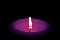 tła czerń świeczka odizolowywająca Zdjęcie Stock