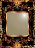 tła czerń groszaka ornament Zdjęcie Royalty Free
