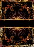 tła czerń groszaka ornament Fotografia Royalty Free