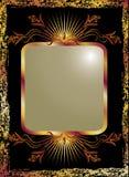 tła czerń groszaka ornament Zdjęcia Royalty Free