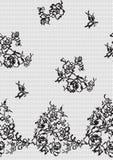 tła czerń koronka bezszwowa Zdjęcie Royalty Free