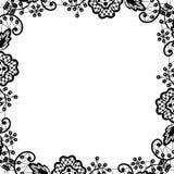 tła czerń koronki bezszwowy wektorowy biel Obrazy Stock