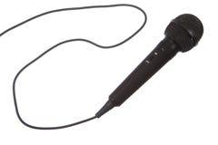 tła czerń odosobniony mikrofonu biel Fotografia Royalty Free