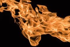 tła czerń ogień odizolowywający Obrazy Stock