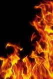 tła czerń płomień odizolowywający Fotografia Royalty Free