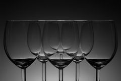 tła czerń pusty szklany wino Fotografia Royalty Free