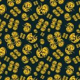 tła czerń wzoru bezszwowy kolor żółty Fotografia Stock