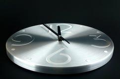 tła czerń zegaru srebro Zdjęcia Stock