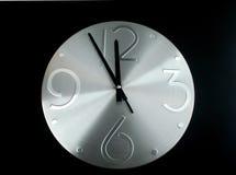 tła czerń zegaru srebro Obrazy Stock