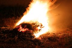 tła czerni ogień obraz stock