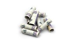 tła czeski pieniądze biel Zdjęcia Stock