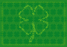 tła cztery liść shamrock kształty Zdjęcia Royalty Free