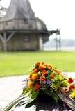 tła dekoraci eleganci kwiatu menchii romantyczny ślub Zdjęcie Stock