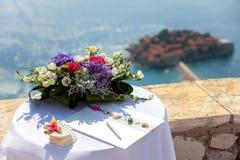 tła dekoraci szczegółu eleganci kwiatu zaproszenia faborku ślub Zdjęcie Royalty Free