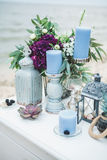 tła dekoraci szczegółu eleganci kwiatu zaproszenia faborku ślub Obrazy Royalty Free