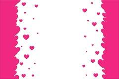 tła dekoracj serc różowy valentine biel Walentynka dnia szablon ilustracji