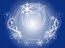 tła dekoracyjnego projekta graficzny ilustracyjny płatków śniegów wektor Zdjęcia Stock