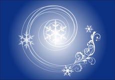 tła dekoracyjnego projekta graficzny ilustracyjny płatków śniegów wektor Zdjęcie Stock