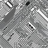 tła deski obwodu elektroniczny kwadratowy vecto royalty ilustracja
