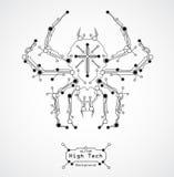 tła deski obwodu pająk ilustracja wektor