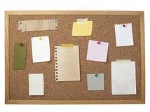 tła deskowej brąz korka notatki stary papier Fotografia Royalty Free