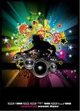 tła discoteque wydarzenia ulotki muzyczne Obraz Royalty Free