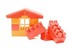tła dom odizolowywający zabawkarski biel obraz stock