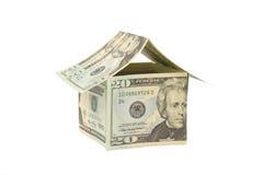 tła domu odosobniony pieniądze biel Obraz Royalty Free