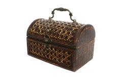 tła drewniany pudełkowaty biały Zdjęcie Royalty Free