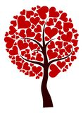 tła drzewny valentines wektor ilustracji