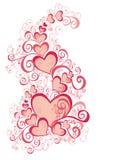 tła dzień ilustracyjny valentines wektor Fotografia Royalty Free