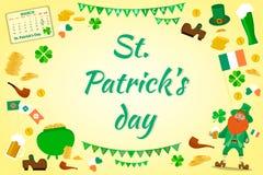 tła dzień Patrick s st Set przedmioty dedykujący St royalty ilustracja