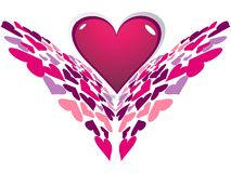 tła dzień serca valentines Obrazy Royalty Free
