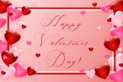 tła dzień serca valentines Szablon dla twój walentynka dnia projekta wektor zdjęcie stock