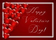 tła dzień serca valentines wektor fotografia stock