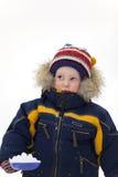 tła dziecka spojrzenia łopata w górę zima Zdjęcie Stock