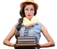 tła dziewczyna nad krótkopędu pracownianym nastolatka biel Obraz Royalty Free