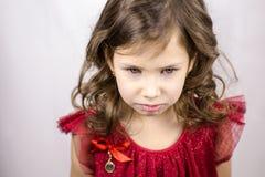 tła dziewczyny szary mały smucenie Zdjęcia Stock